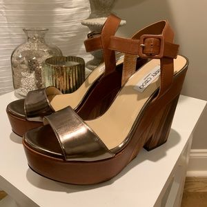 Jimmy Choo Notion Wooden Block Sandals